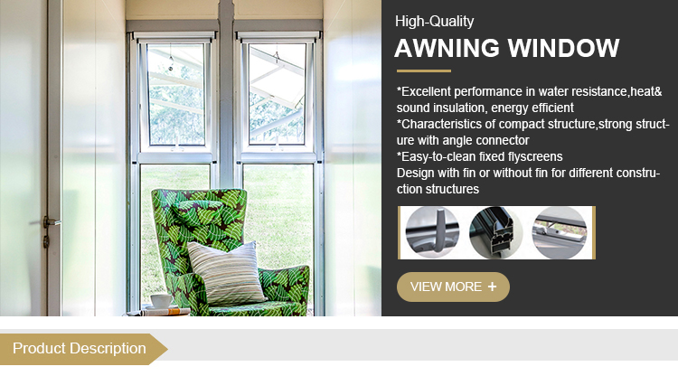 Double glass awning window