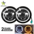 "Imported Chips Devil's Eye Offroad DRL Halo Ring Daylights DRL High Low Dual Beam 7"" Round Led Headlight For Jk Tj"