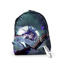 Рюкзак Demon Slayer: Kimetsu no Yaiba, Холщовая Сумка Tomioka Giyuu, школьные сумки для девочек, дорожная сумка, Mochila Feminina, сумки для ноутбуков для мальчиков(Китай)
