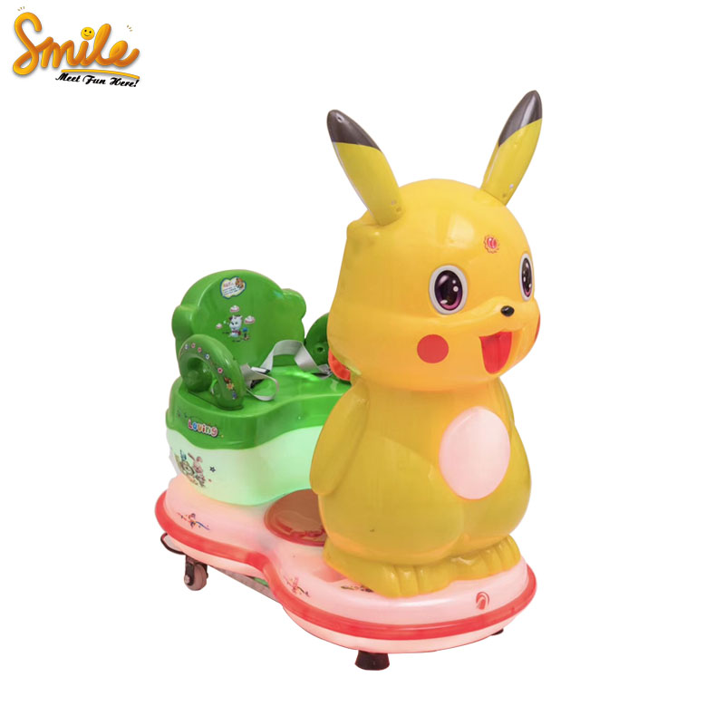 Mooie Pikachu Kids Mini Elektronische Swing Auto Token Operated Rides Kiddy Game Machine Hot Koop In India