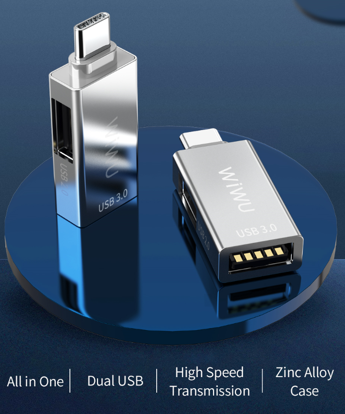 WIWU T02 type C 转接头 (https://www.wiwu.net.cn/) 手机转接器 第4张