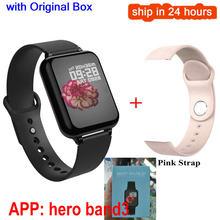 B57 Смарт-часы браслет IP67 водонепроницаемый монитор сердечного ритма кровяное давление фитнес-трекер женские спортивные носимые часы для му...(Китай)