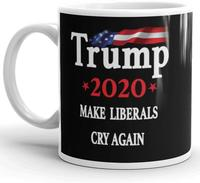 ceramic gift mugs Donald Trump 2020 Prank Gift Mug Novelty Ceramic Coffee Mug - Funny Gifts for Him and Her Gag Birthday