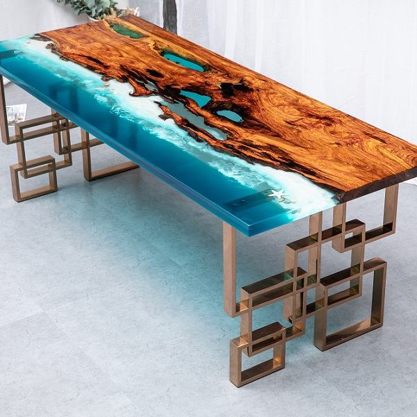 Modern Wood Slab River Table Solid Wood Epoxy Resin Table Top