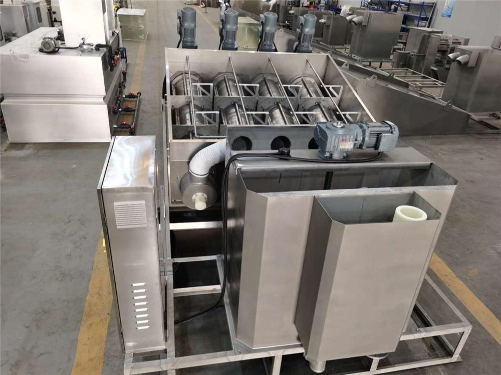 Voll automatische ss 304 oder 316 ausrüstung schlamm entwässerung maschine abwasser behandlung maschinen für schlachtung industrie