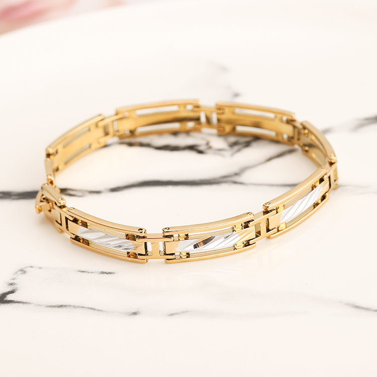 SAF Jewelry Hot Sell Healthy Exquisite Alloy Gold Plated <strong>Energy</strong> <strong>Magnetic</strong> <strong>Bracelet</strong> For Men