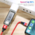 FLOVEME 3A Fast Charging Mobile Phone USB Data Cable Type C Magnetic Charging Cable Micro USB