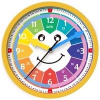 Colorful Cartoon Smiley Face Design of plastic Digital Wall Clock