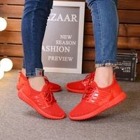 summer new trend flat classic running sneaker unsex men and women sport casual red mesh shoes