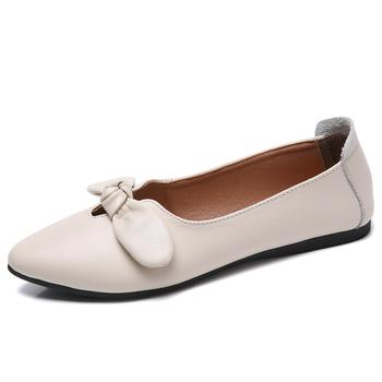 Fashion Pointed Toe Bow Fancy Slip