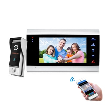 Newest Tuya Video Door Phone with mobile app unlock function for villa private house , unlocked monitor and door bell video