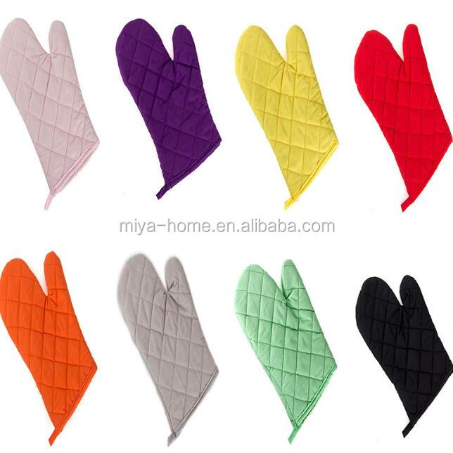 High quality solid color thickening microwave oven gloves / baking heat resistant gloves / non-slip cooking gloves