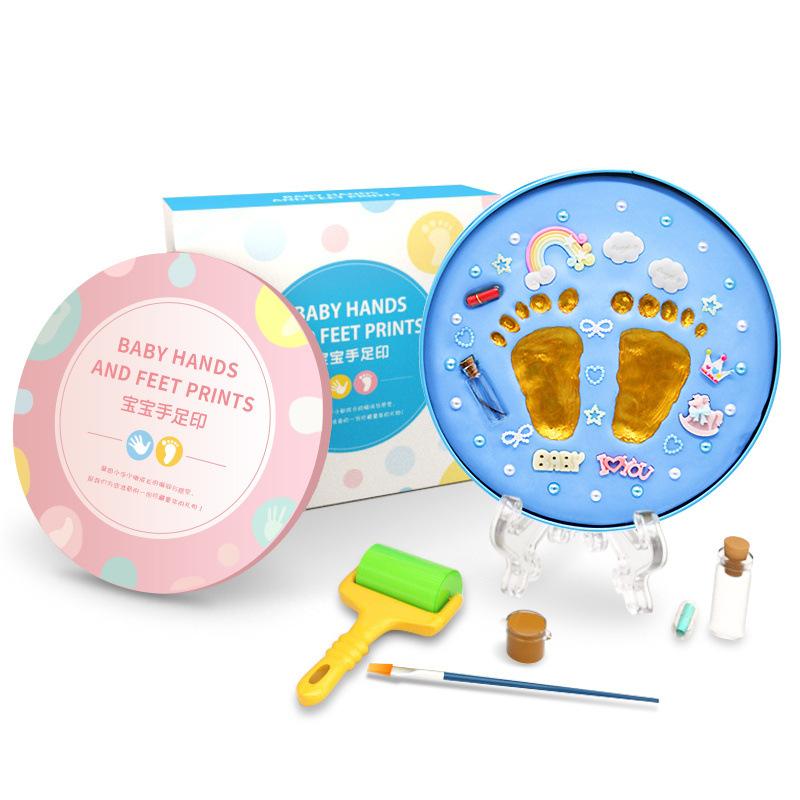 Secagem Ao ar de Argila Mole h pé Kit de Impressão ultra light Fundição nascido Presente da pegada Do Bebê DIY