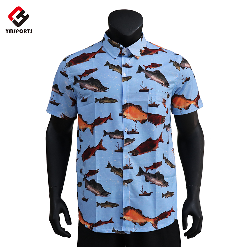 Best selling fashion comfortable colorful flower bangkok hawai shirt for mens custom aloha shirt