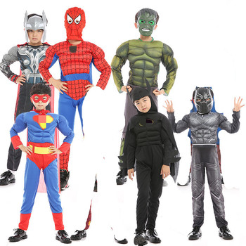 halloween costumes avngers spiderman clothes superhero cape & mask