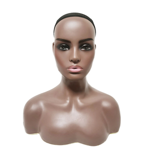 Mannequin Head with Shoulders Realistic Female Mannequin For Wig Display