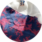 Digital printed mulberry silk crepe de chine italian silk fabric for cloth