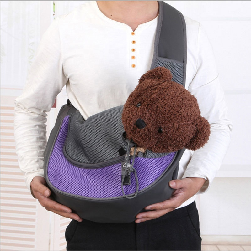 Pet Sling <strong>Bag</strong> Classic Checked Design <strong>Dog</strong> Cat Shoulder <strong>Bag</strong> For Outdoor Pet <strong>Carrier</strong> <strong>Dog</strong> Sling <strong>Carrier</strong>