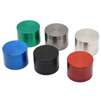 4 Parts Zinc Alloy 40MM 50MM 55MM 63MM Multi-Color Classic Design Tobacco Smoking Custom Logo Dry Herb Grinder Weed Wholesale