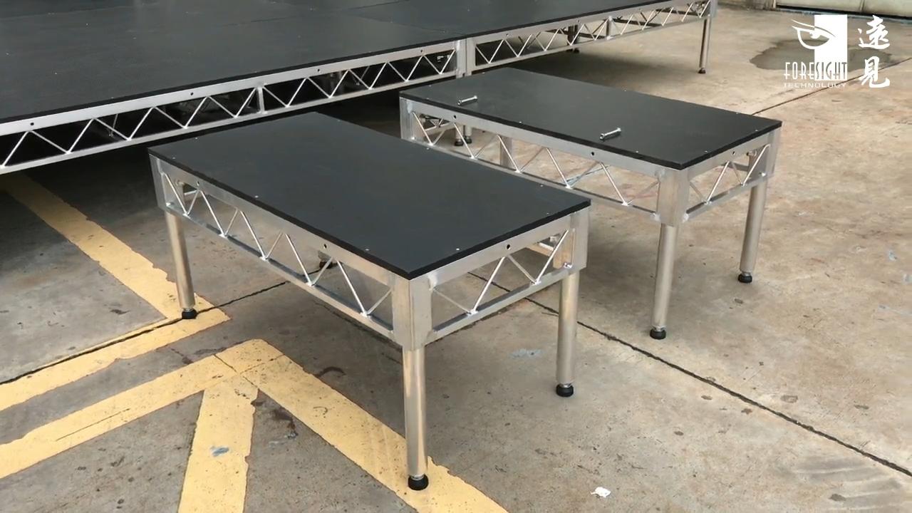 ביצועים רצפת נייד מטלטלין שלב עם מדרגות נייד ריקוד מסבך שלב סיפון