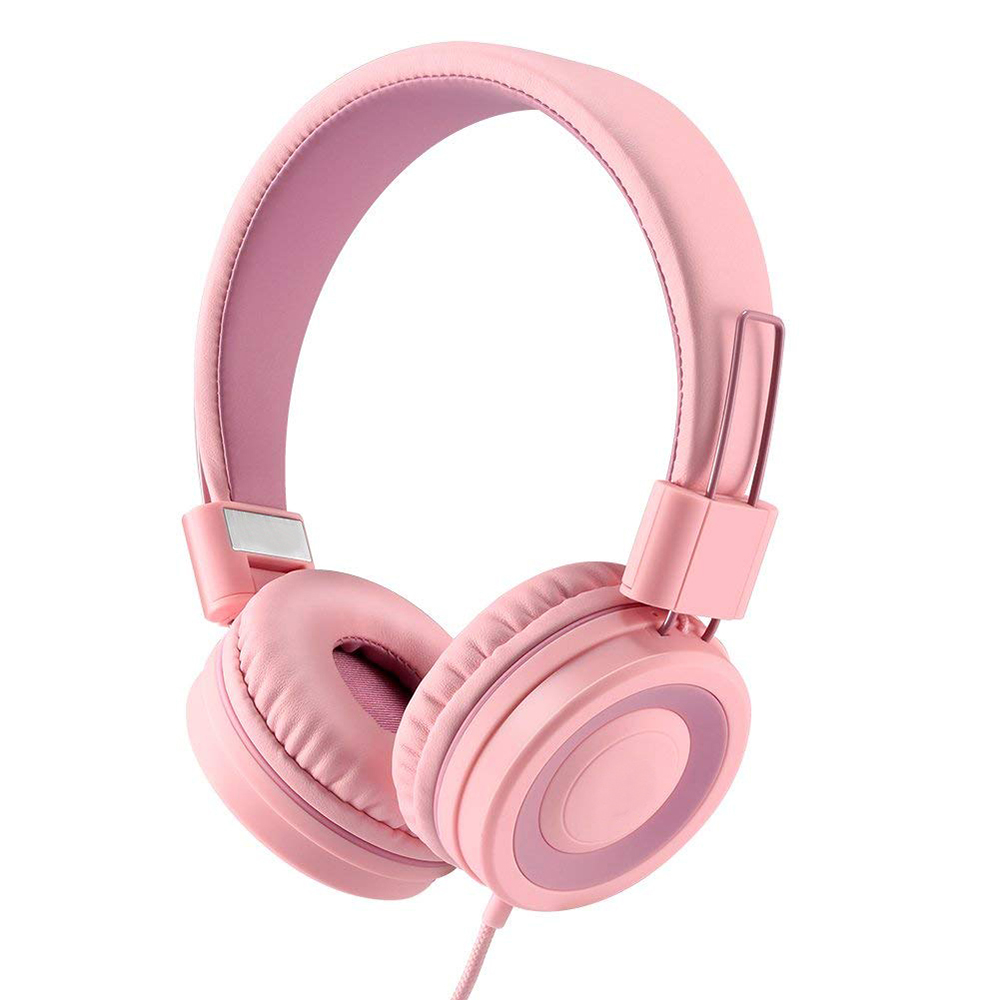 High quality sound over ear birthday gift music earphone 85dB volume limited wired kids headphone headset