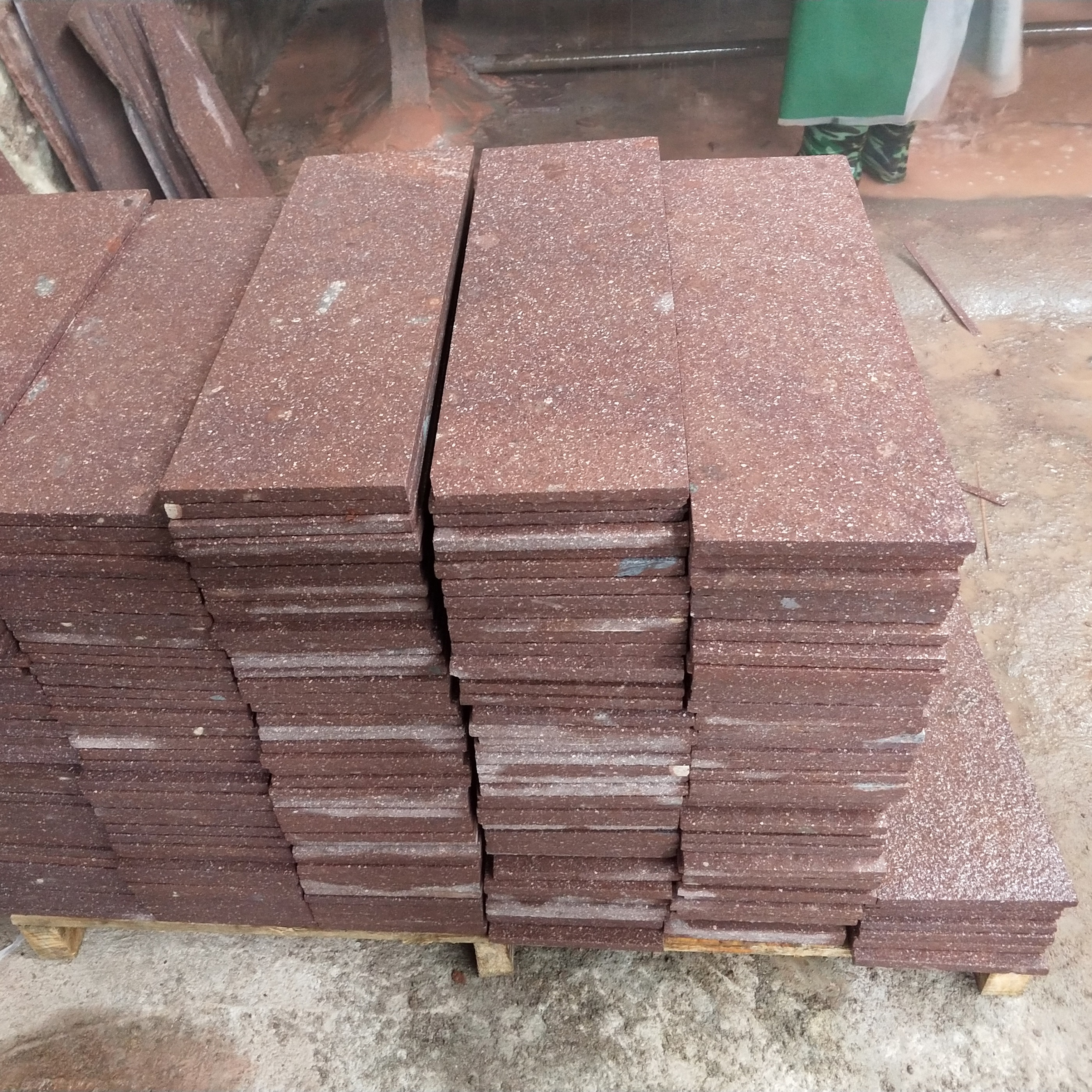 Red Porphyre Granite Stone Flooring Tile Outdoor Wholesale