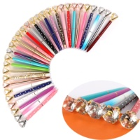 Promotion Big Top Diamond Pen Multi Color Diamond Crystal Ballpoint Ball Pen For Wedding Gift