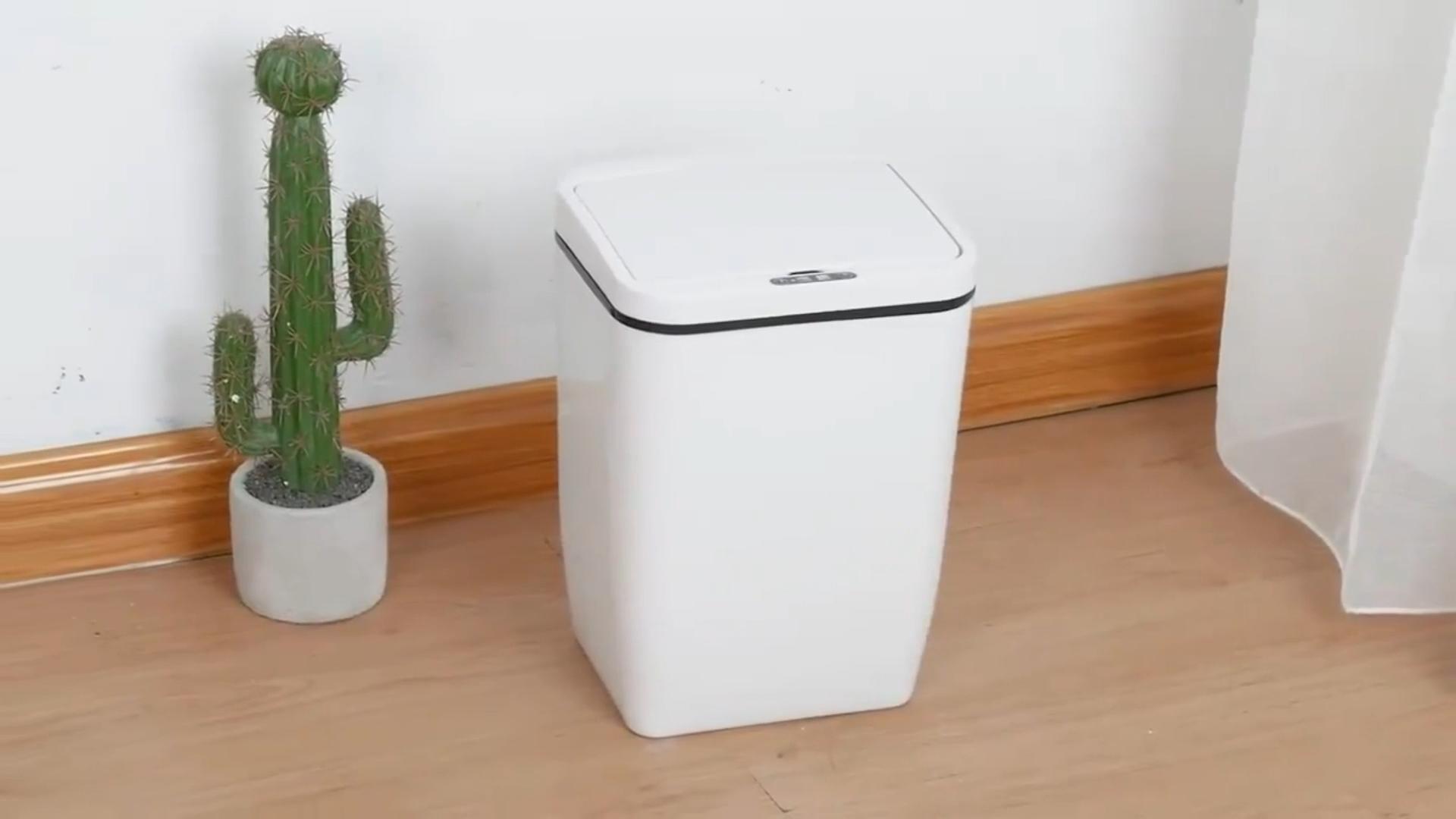 12L Hause Intelligente Mülleimer Automatische Sensor Mülleimer Smart Sensor Elektrische Abfall Bins Umweltfreundliche Staub Bin PP Kunststoff