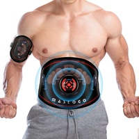 Electronic Abs Toning Training Belt - 9 Modes Pulse Abdominal Stomach Machine EMS Waist Trimmer Equipment Ab Fitness Workout Sti