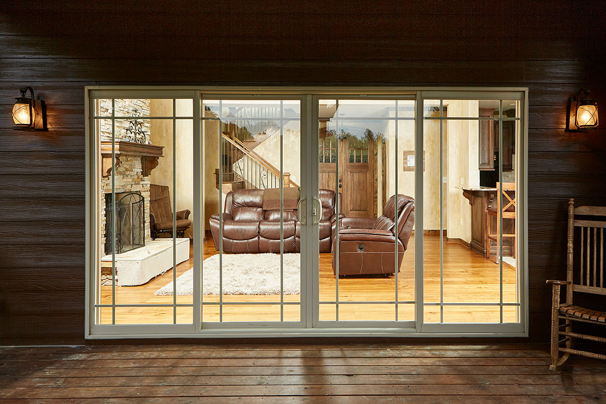 Three panels or four panels   patio exterior aluminium  profile  rames sliding glass doors rollers  prices