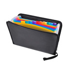 A4 Non-Itchy Silicone Coated Safety File Storage Holder Rainbow Color Expanding Fireproof Document Bag File Folder