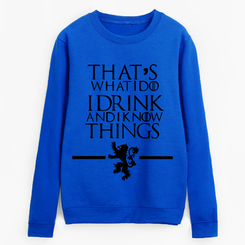 Yhao Hoodies Top Tracksuits That'S What I Do I Drink And I Know Things Printed Sweatshirt Women Autumn Pullovers