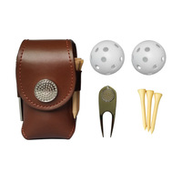 multipurpose golf leather bag mini size golf ball bag golf tool bag carrying