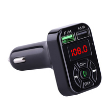 A9 Mobil Kit Handsfree Wireless LCD MP3 Pemain 3.1A Dual USB Charger Adapter FM Transmitter