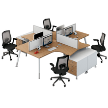 4 Person workstation <span class=keywords><strong>möbel</strong></span> moderne modulare büro <span class=keywords><strong>möbel</strong></span>