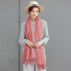 Wholesale Plain Tassels Cashmere Pashmina Shawl high qualityhigh quality winter warm scarf