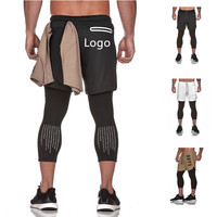 Mens Custom Running Crossfit Sports Gym Compression Jogger Sweat Yoga Trousers Pants