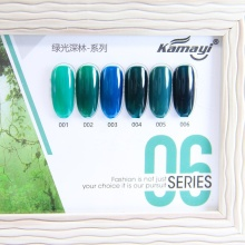 Kamayi Hijau Hutan Seri 6 Warna Kuku Set Uv Gel 12 Ml, Harmony Gel Polandia