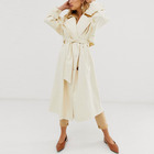 Wholesale custom womens button fly functional pockets trench fashion coats