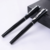 Heavy black roller business ball pen with luxury metal clip