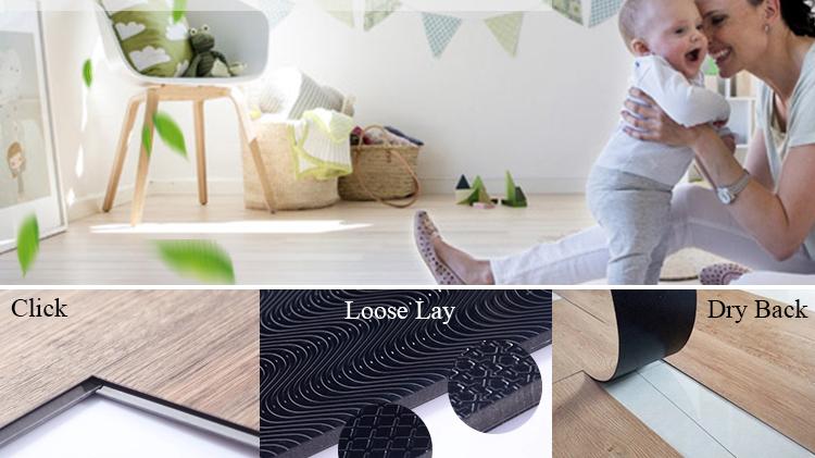 Luxus PVC Vinyl LVT Klicken Fliesen Kunststoff Bodenbelag Plank