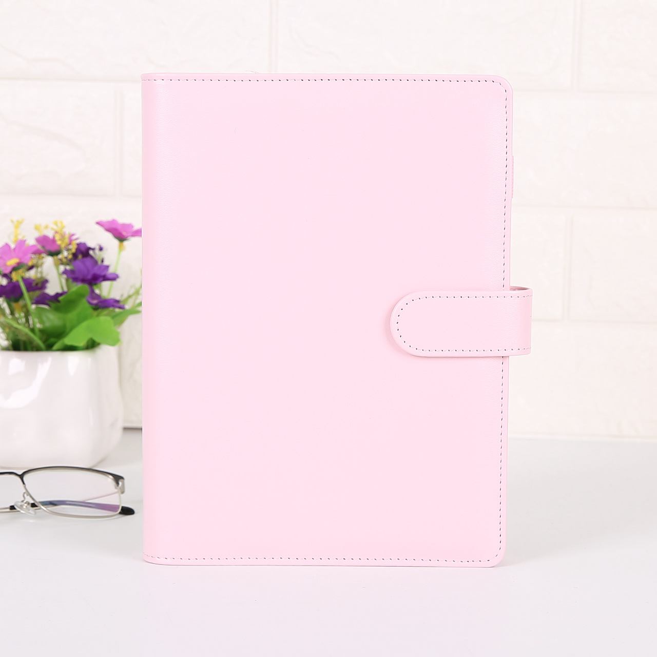 Luxury Gift Stationery Wholesale Buy Macaron Small Binder Diary Notebook PU Leather 6 Rings A5 A6