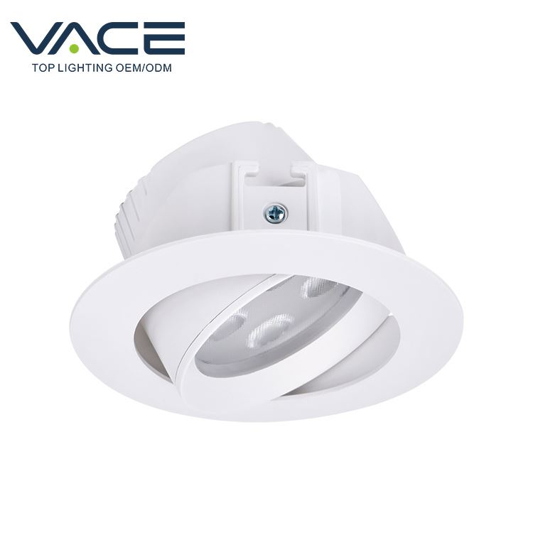3W 5W White indoor lamp recessed concrete ceiling light led spotlight for retail store