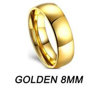 Простой Нержавеющаясталь золотые кольца для женщин серебро женские кольца ювелирные изделия Пара обручальных колец Для мужчин кольцо пер...(Китай)