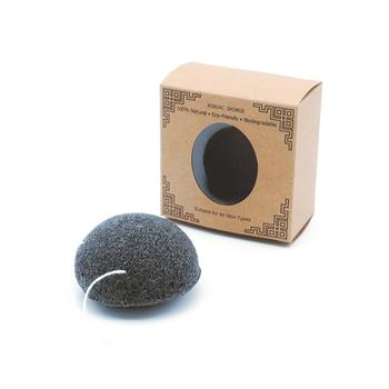 Facial cleaning bamboo charcoal konjac sponge for wholesale