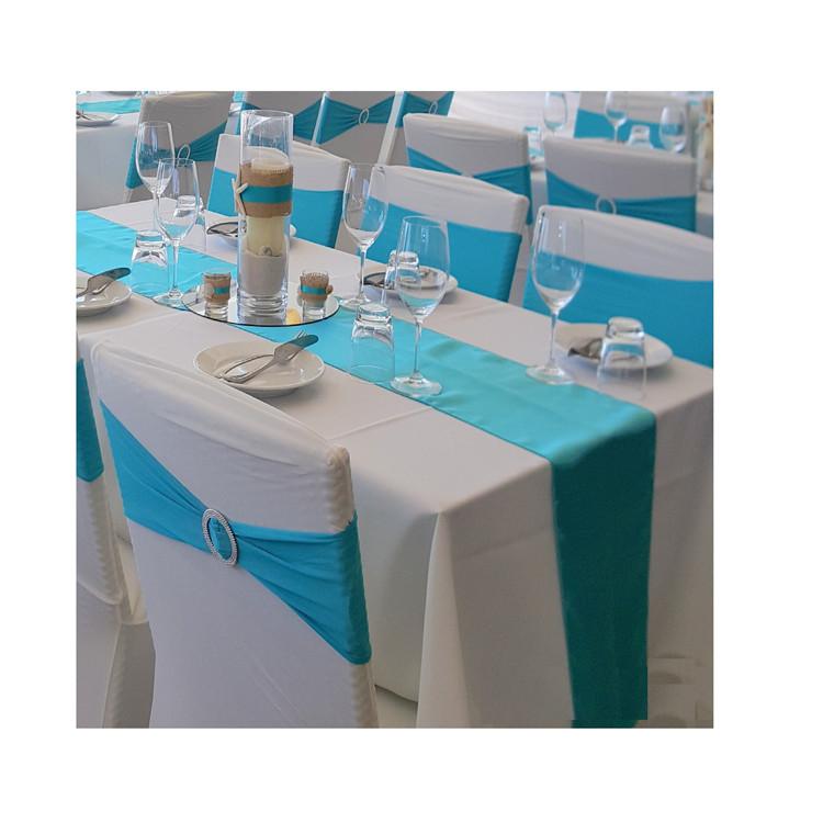 在庫ありlongsun 12 ''x 108'' サテンテーブルランナーウェディングパーティー婚約イベント誕生日卒業宴会装飾