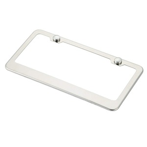custom stainless steel license plate frame for USA
