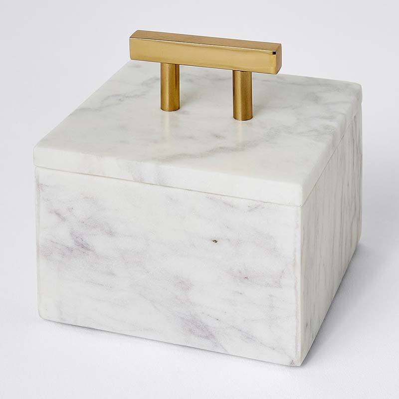 Home And Garden Cosmetic Luxury Wooden Marble Gift Box