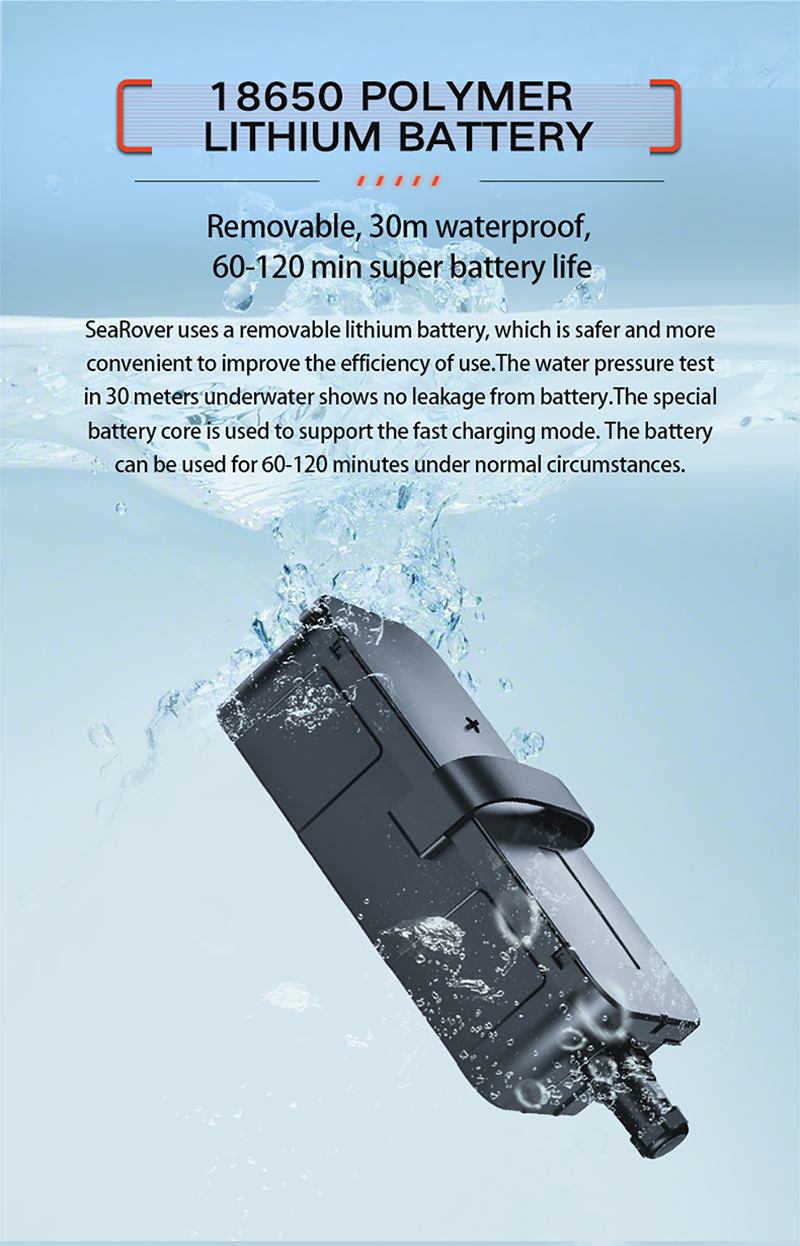 IP68 Long-time Battery Life Water Surface SeaRover Electric Body Board for Hobby Watersports