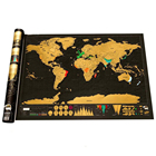 New Arrival Hot CustomPlaces We've Been Deluxe Travel Scratch Off World Map Poster